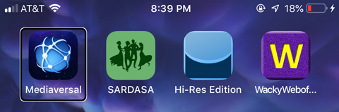 App Icons on an IOS device